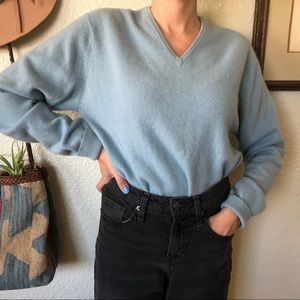 Vintage Baby Blue Cashmere Sweater